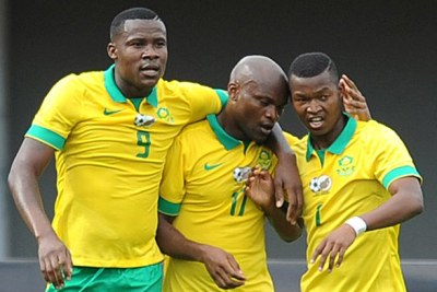 Bafana Players after loss to Cameroon