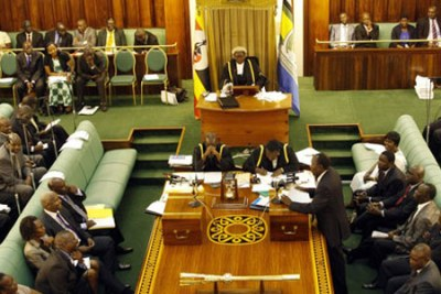 Uganda's parliament in session.