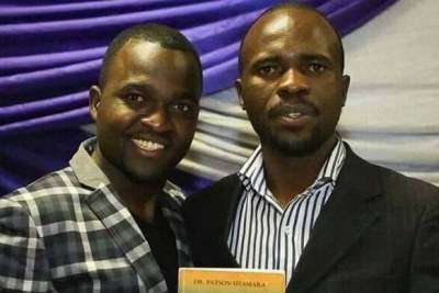 From left, Patson Dzamara and his missing brother Itai Dzamara.