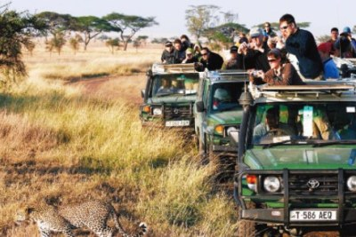 Tourists at the Serengeti National Park (file photo)