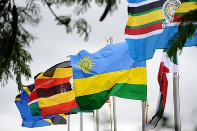 Member states and and East African Legislative Assembly flags.