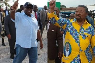 A gauche Ali bongo Ondimba actuel président du Gabon , à droite Jean Ping