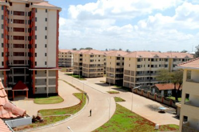 One of the Kenya National Housing Corporation projects in Ngara, Nairobi (file photo).