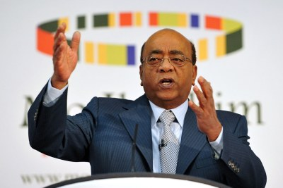 Mo Ibrahim lors de la publication de l'Indice Ibrahim pour le Gouvernance Africaine