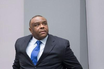 Jean-Pierre Bemba dans la salle d'audience de la Cour pénale internationale (CPI)