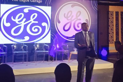 Special guest Mr Abdul Ahmed Mustapha, Permanent Secretary of Lagos State Ministry of Wealth Creation and Employment at the launch of GE Garage Lagos - a year-round series of skills training programs focused on building the next generation of Nigerian entrepreneurs