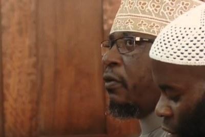 Sheikh Kamoga in court.