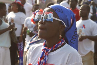 Supporters of Nana Akufo-Addo on the campaign trail.