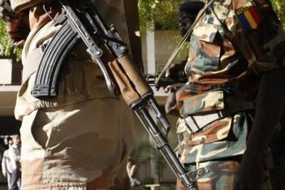 Soldats tchadiens  (photo d'illustration).