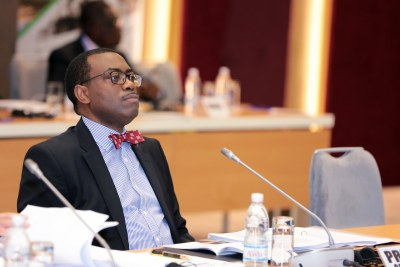 African Development Bank (AfDB) president Akin Adesina at the 2nd meeting of the 14th replenishment of the African Development Fund (ADF)