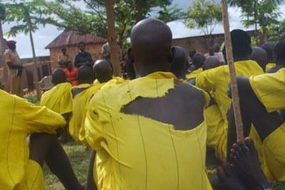Inmates at Pece Prisons in Uganda's Gulu District (file photo).