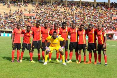 The Cranes team that beat Congo Brazzaville. Uganda lost to Tunisia.