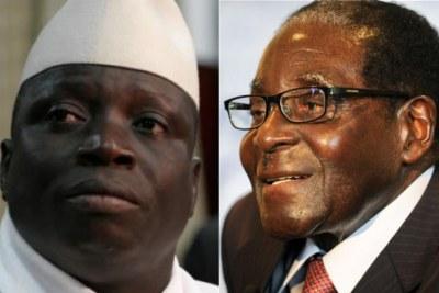 Gambia's Jammeh and Zimbabwe's Mugabe.