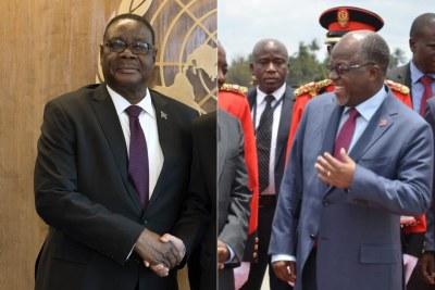 Malawi President Peter Mutharika and Tanzanian counterpart John Magufuli.
