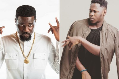 Rappers Sarkodie and Medikal.