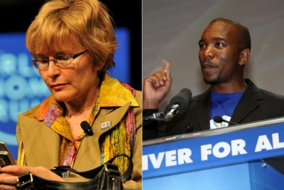 Left: Helen Zille. Right: Mmusi Maimane.