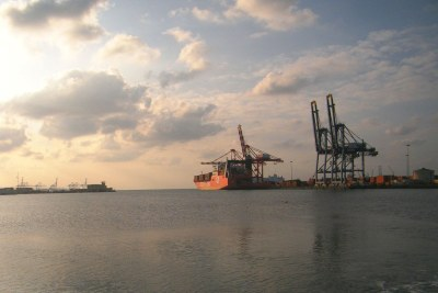 The container terminal at the Port of Djibouti.