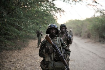 Soldats somaliens.