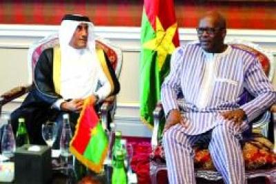 Visite officielle du Président du Faso au Qatar