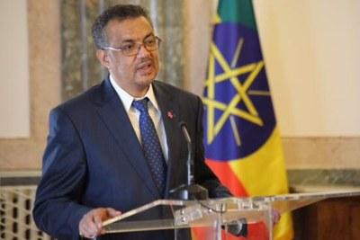 L'Éthiopien Dr Tedros Adhanom Ghebreyesus, nouveau Directeur Général de l'Organisation Mondiale de la Santé (OMS).