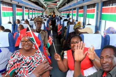 Kenya's Madaraka Express's Maiden Voyage - PHOTOS