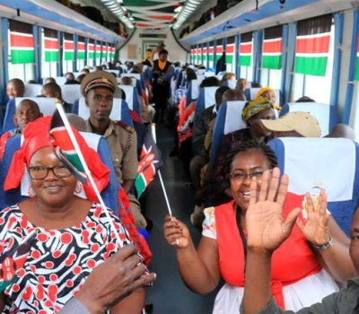 Kenya's Madaraka Express's Maiden Voyage - PHOTOS