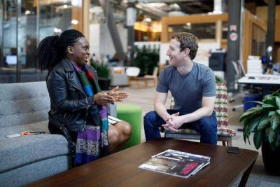 Lola Omolola and Mark Zuckerberg