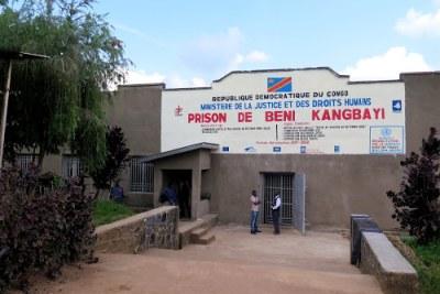 Entrée principale de la prison Kangbayi de Beni après sa réhabilitation par la Monusco