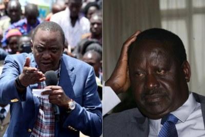 President-elect Uhuru Kenyatta and opposition leader Raila Odinga.