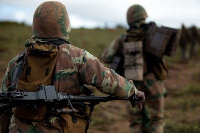 South African National Defense Force soldiers (file photo).