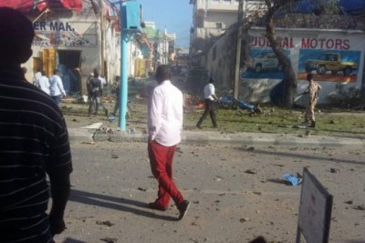Bomb in Mogadishu (file photo).