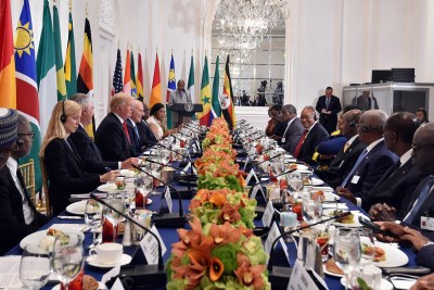 President Donald Trump hosted a luncheon for African Leaders on the sidelines of the 72nd Session of the United Nations General Assembly in September 2017.