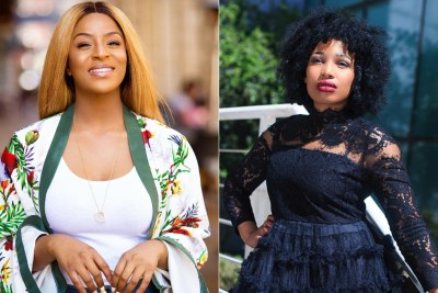 Jessica Nkosi and Phindile Gwala, who have been criticised for flashing money & hanging out with the Bling Bandits.