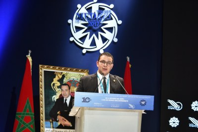 M. Brahim Fassi Fihri, président de l'Institut Amadeus, lors de l'ouverture officielle des MEDays 2017, le mercredi 8 novembre à Tanger