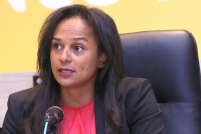 Former State-run Sonangol's CEO Isabel Dos Santos. (file photo).