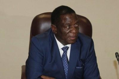 President Emmerson Mnangagwa.