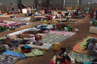 Displaced Oromo looked for shelter in an industrial warehouse (file photo).