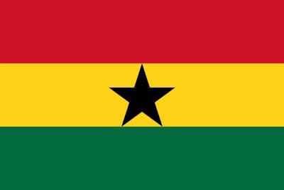 Ghana national flag.