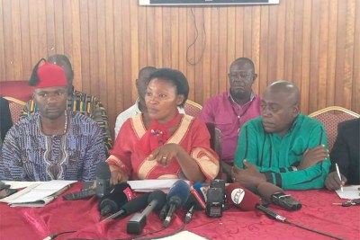 Winnie Kiiza, flanked by fellow MPs, announces the new campaign. Photo: