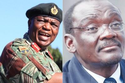 Vice Presidents of Zimbabwe retired general Constantino Chiwenga and Kembo Mohadi