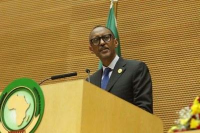 Le Président Paul Kagame au 30ème Sommet de l'Union Africaine, du 22 au 29 Janvier 2018.