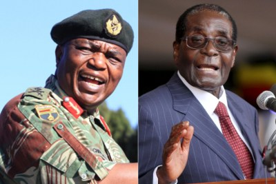 Former Zimbabwe President Robert Mugabe and former Commander of the Zimbabwe Defence Force, General Constantino Chiwenga.
