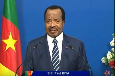 Paul Biya, Président du Cameroun lors de son discours à la jeunesse 10.02.2018