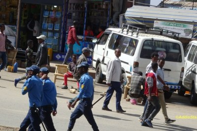 Protestd in Addis Ababa (file photo).