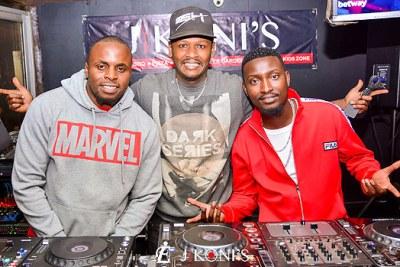 Deejays at Club Jikonis in Ridgeways along Kiambu Road.