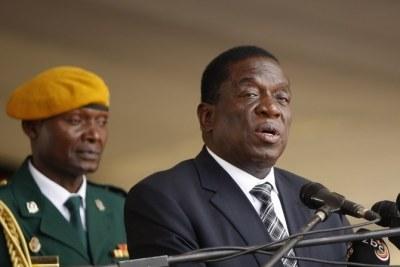 Zimbabwean President Emmerson Mnangagwa (file photo).
