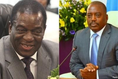 President Emmerson Mnangawa of Zimbabwe and DRC President Joseph Kabila