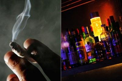 Alcohol, tobacco..