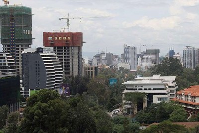 A view of the skyline in Westlands.