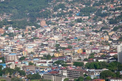 A view of Freetown Sierra Leone.